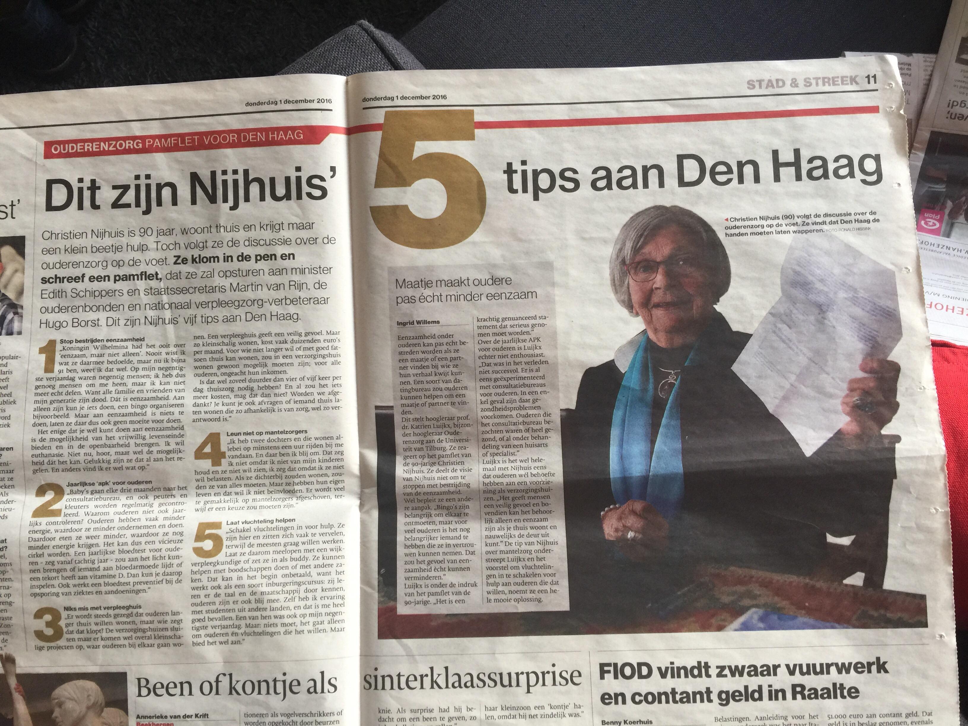 Bergenvaarder Christien Nijhuis schrijft pamflet